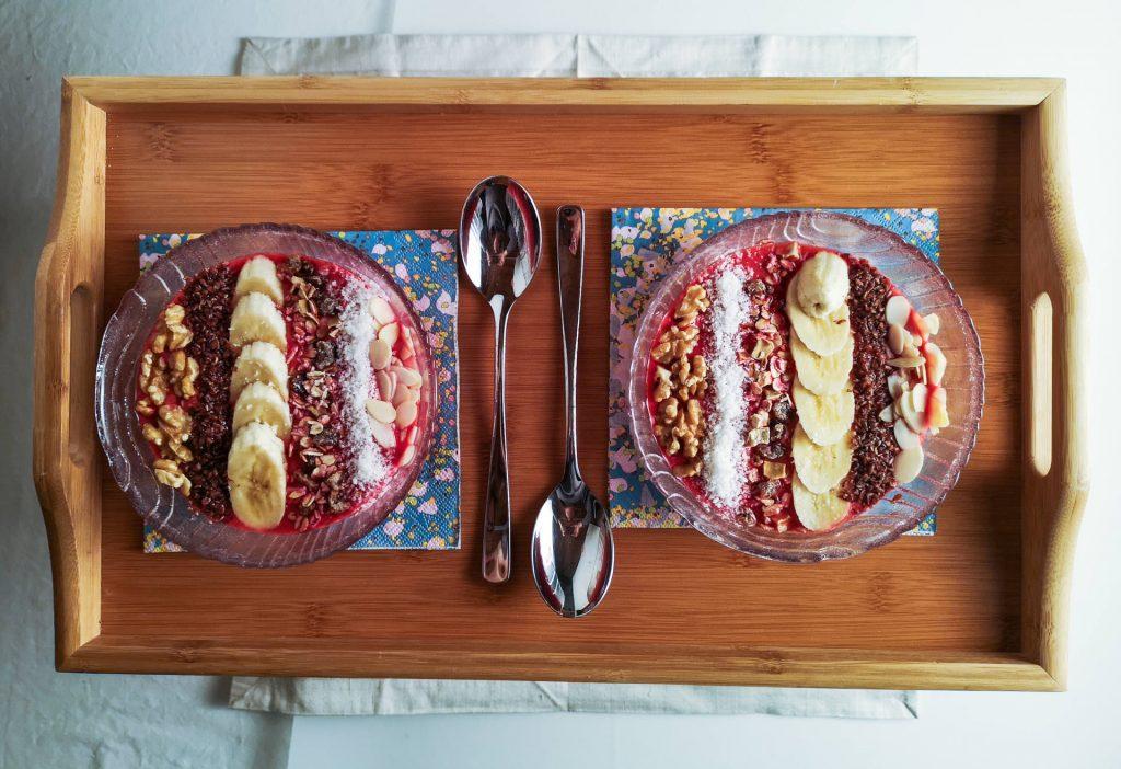Himbeer-Kokos Smoothiebowl | Frühstück | Foodblog | Lieblingsspeise.at