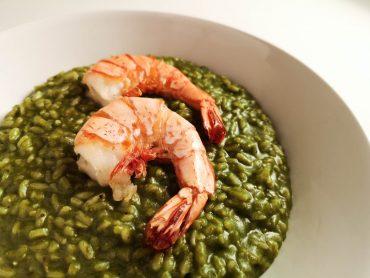 Spinatrisotto mit Garnelen | Rezept | Foodblog | Lieblingsspeise.at