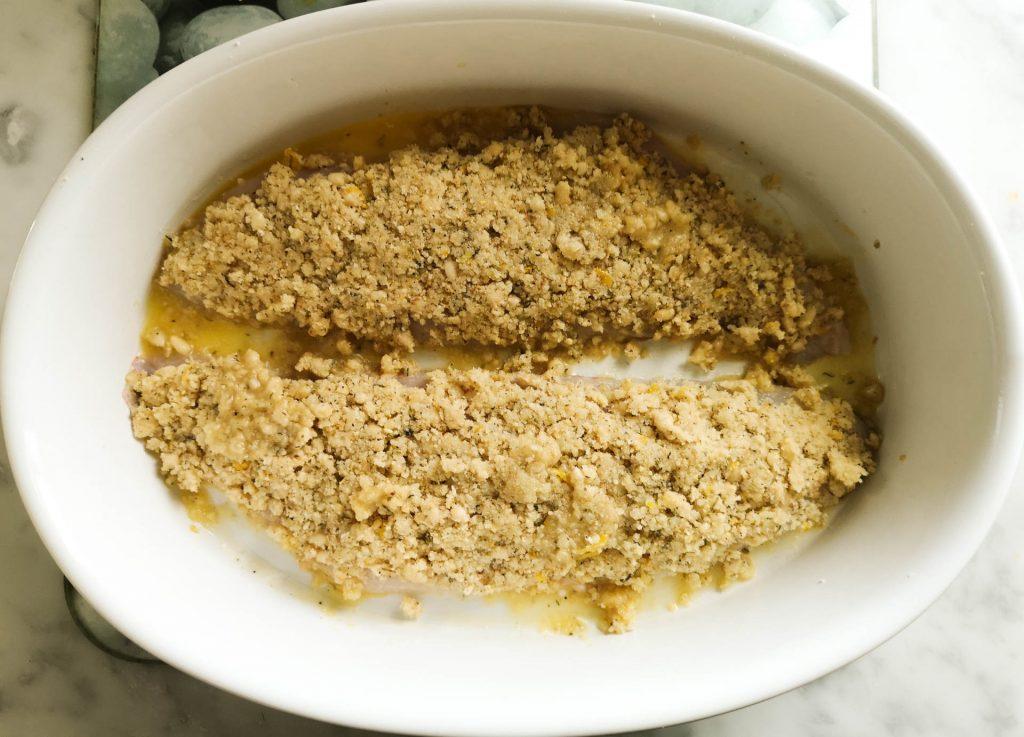 Rotbarsch mit Parmesan-Pinienkern-Kruste   Vorbereitung   Foodblog   Lieblingsspeise.at