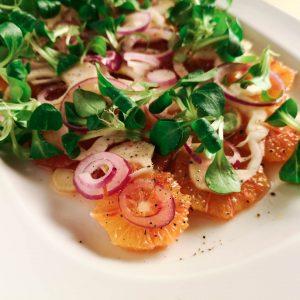 Orangen-Fenchel-Salat mit Zwiebel und Feldsalat | Rezept | Foodblog | Lieblingsspeise.at