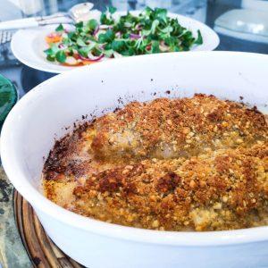 Rotbarsch mit Parmesan-Pinienkern-Kruste | Rezept | Foodblog | Lieblingsspeise.at